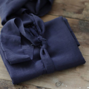 Tencel - meetMilk Slub Leinen - blueberry blau