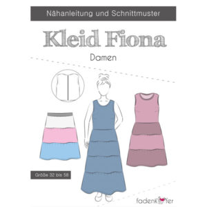 Papierschnittmuster Kleid Fiona Gr 32 - 58 - Fadenkäfer