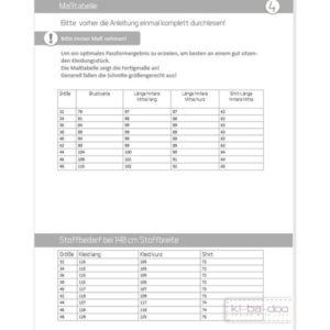 Papierschnittmuster Basic Strandkleid Gr 32 - 48 - Ki-ba-doo