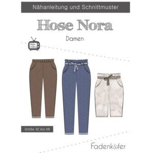 Papierschnittmuster Hose Nora Gr 32 - 58 - Fadenkäfer