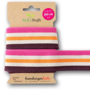 "Strickband - ""stripe me College"" rosa / mauve"