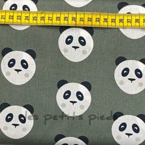 Baumwolle - Panda dunkelgrün