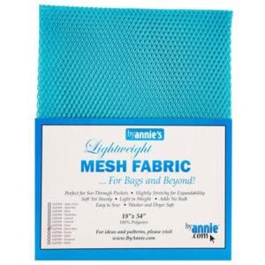 Mesh Fabric Taschennetz - hellblau