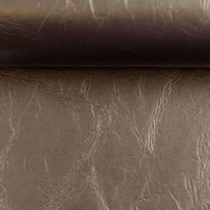 Kunstleder - Paloma - metallic schlamm mit Filzrückseite