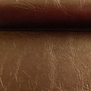Kunstleder - Paloma - metallic kupfer mit Filzrückseite