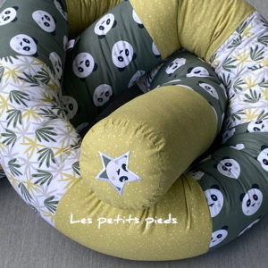 Bettschlange Panda grün