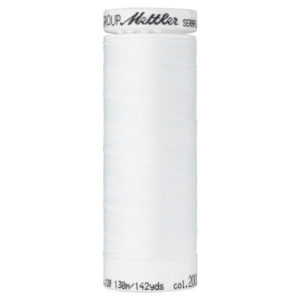 Mettler Seraflex elastisches Garn 130 m - weiss 2000