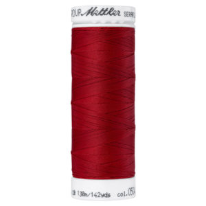 Mettler Seraflex elastisches Garn 130 m - dunkelrot 0504