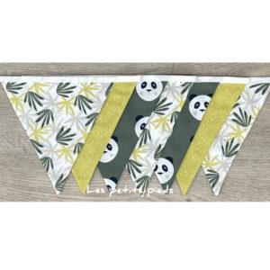 Wimpelkette Panda grün
