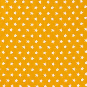 Baumwolle - Sterne ocker