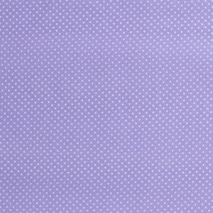 Baumwolle - Minipunkte hellflieder / weiss