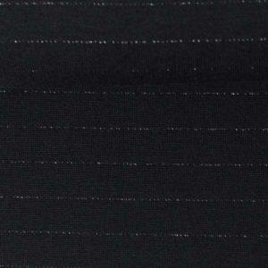 """Interlock Jersey """"Pia"""" mit zartem Metallicstreifen - schwarz / silber"""