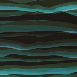 """Nanosoftshell - """"wavy stripes"""" schwarz / petro"""