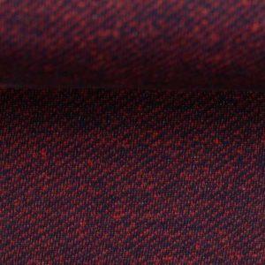 "Sweat angeraut - ""Piet"" jeansoptik - dunkelblau/ rot"