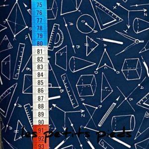 Baumwolle - Geometrie - dunkelblau