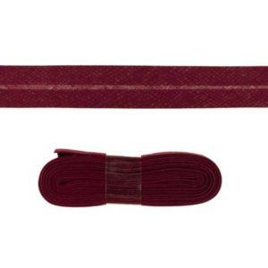 Baumwollschrägband uni bordeaux