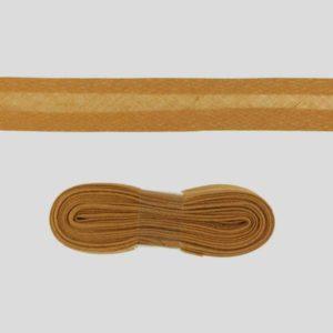 Baumwollschrägband uni caramel