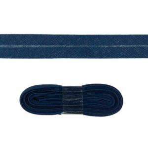 Baumwollschrägband uni dunkelblau 2