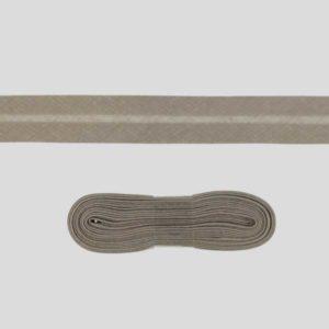 Baumwollschrägband uni taupe