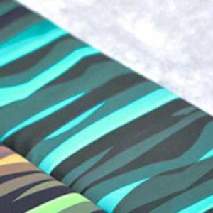 """Nanosoftshell - """"wavy stripes"""" schwarz / petrol"""