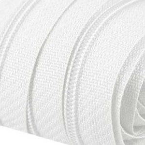 Bettwäscheschieber für 3 mm Reissverschluss - weiss
