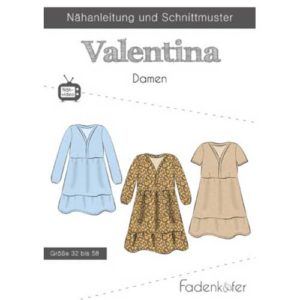 Papierschnittmuster Tunika Valentina Damen Gr 32 - 58 - Fadenkäfer
