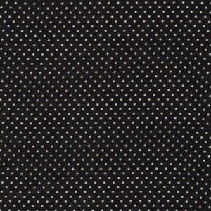 Baumwolle - Minipunkte schwarz / weiss