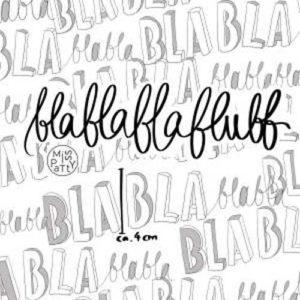 """Sommersweat """"Blablablablubb"""" Lillestoff weiss/ schwarz"""