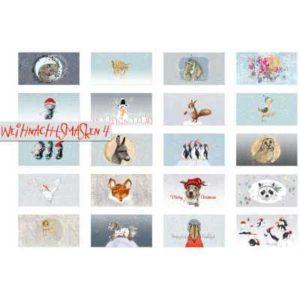 Biobaumwolle - Weihnachtsmasken 4 - Panel für 20 Masken