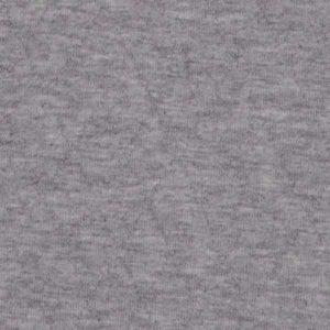 Steppjersey uni - hellgrau melange