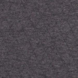 Steppjersey uni - dunkelgrau melange