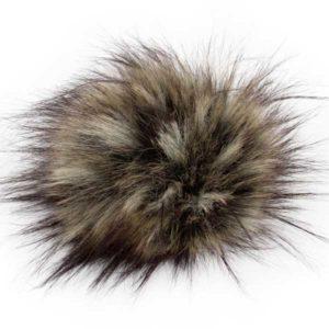 Kunstfellpompon Pro Lana - 12 cm - natural raccoon