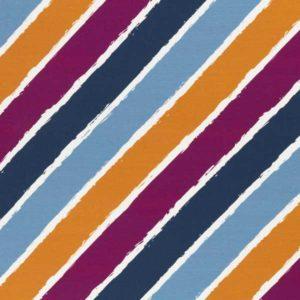 """Sommersweat - """"Diagonally by lycklig design"""" - blau / beere / senf"""