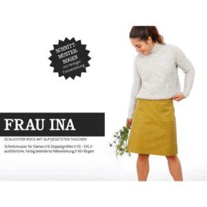 """Papierschnittmuster """"Frau Ina"""" Rock mit ausgesetzten Taschen Gr 146- 48 - Studio Schnittreif"""