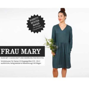 "Papierschnittmuster ""Frau Mary"" Kleid Gr 146- 48 - Studio Schnittreif"