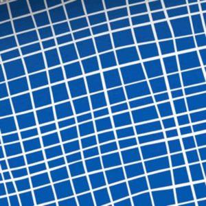 "Shield Pro Albstoffe ""Grid"" Hamburger Liebe - blau / weiss"