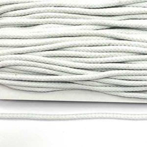Baumwollkordel 8 mm - weiss