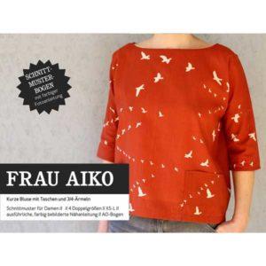 """Papierschnittmuster """"Frau Aiko"""" Bluse mit Taschen Gr 146- 48 - Studio Schnittreif"""