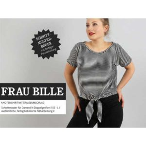 """Papierschnittmuster """"Frau Bille"""" lässiges Knotenshirt Gr 146- 48 - Studio Schnittreif"""