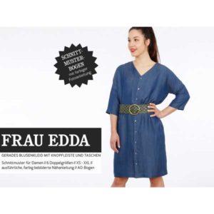 """Papierschnittmuster """"Frau Edda"""" gerades Blusenkleid Gr 146- 52 - Studio Schnittreif"""