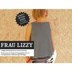 "Papierschnittmuster ""Frau Lizzy"" luftiges Damentop Gr 146- 48 - Studio Schnittreif"