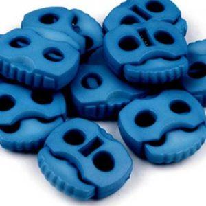 Kordelstopper mit 2 Löchern - blau