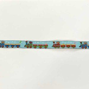 Webband Zug 16 mm - hellblau / bunt