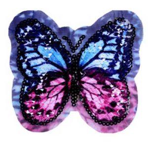 Applikation - Wendepailetten Schmetterling - violett / blau