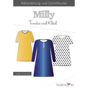 Papierschnittmuster Tunika/ Kleid Milly Damen Gr 32 - 58 - Fadenkäfer