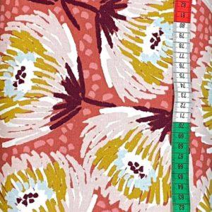 Baumwollcanvas - Blumen rot