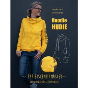 """Papierschnittmuster Hoodie """"Hudie"""" 34-46 - Prülla"""