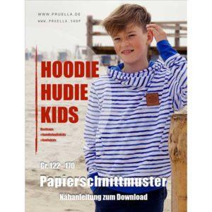 """Papierschnittmuster Hoodie """"Hudie Kids"""" 122-170 - Prülla"""