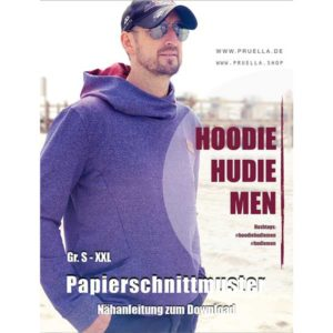 "Papierschnittmuster Hoodie ""Hudie Men"" S-XXL - Prülla"