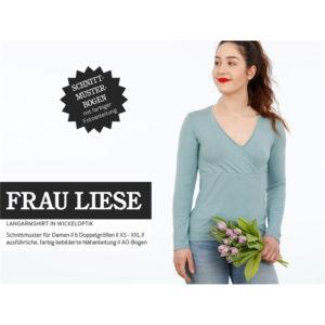 """Papierschnittmuster """"Frau Liese"""" Langarmschirt Gr 146 - 52 - Studio Schnittreif"""